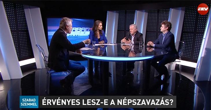 Népszavazás - Závecz Tibor - Szabad Szemmel - ATV