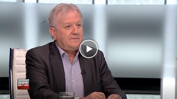 Závecz Tibor, az ATV Egyenes Beszéd című műsorában